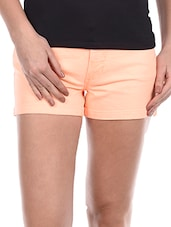 Plain Solid Cotton Lycra Shorts - Alibi