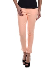 Ankle Length Cotton Lycra Trousers - Alibi