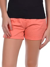 Solid Cotton Lycra Shorts And Trousers Set - Amari West