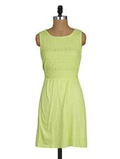 Round Neck Sleeveless Cotton Viscose Dress - Amari West