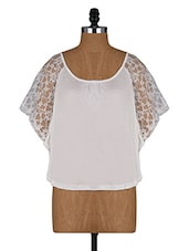 Deep Neck Kaftan Lace Sleeve Top - Amari West