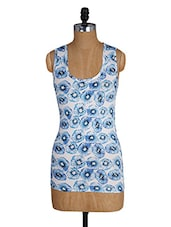Kiwi Printed Round Neck Cotton Tank Top - Amari West