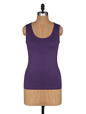 Round Neck Sleeveless Cotton Lycra Top - Amari West
