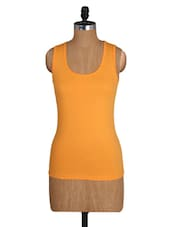Yellow Sleeveless Cotton Lycra Top - Amari West