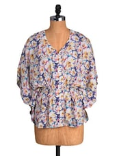 Multicoloured Floral Print Kaftan Top - Amari West