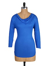 Cowl Neck Long Sleeves Viscose Top - Amari West