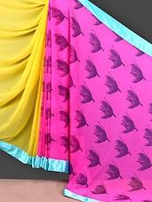 Pink & Yellow Half & Half Saree - FABIONA