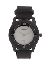 ROUND DAIL BLACK ANALOG WATCH -  online shopping for Men Analog Watches