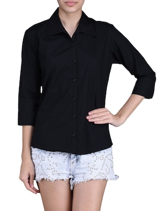 plain solid black shirt