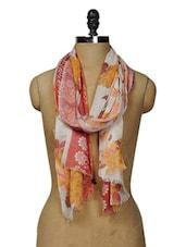 Floral Print Cotton Scarf - Shingora