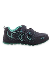 Grey Velcro Closure Sport Shoes - Just Go Women