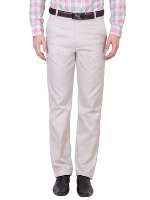 multi colored cotton formal trouser (Set Of 2) - 10972625 - Standard Image - 2