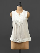 White Sleeveless Cotton Top - Trend Arrest