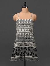 Ethnic Print Camisole Neck Crepe Tunic - MOTIF