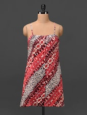 Printed Camisole Neck Rayon Tunic - By