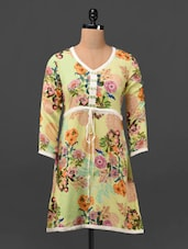 Floral Print Rayon Tunic - By