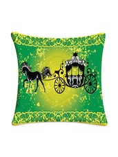 Digitally Printed Green Carriage Cushion Cover - Mesleep