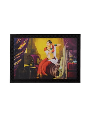 eCraftIndia Princess Make-up Scene Satin Matt Texture UV Art Painting