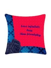 """Love Infinitely ""Printed Cushion Cover - Mesleep"