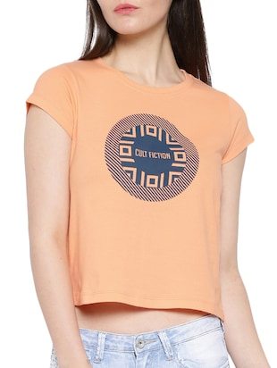 orange cotton crop tee