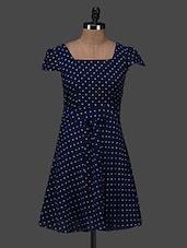 Polka Dot Print Dress - Color Fuel