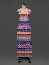Cami Neck Printed Maxi Dress - Color Fuel