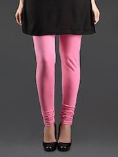 Churidaar Pink Cotton Leggings - Lady In Red