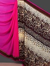 Solid & Printed Half & Half Saree - Saara