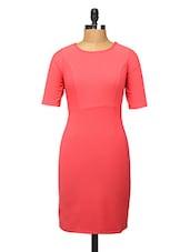 Pink Polyester Sheath Dress - Change360��