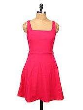Pink Cut-out Skater Dress - Change360��