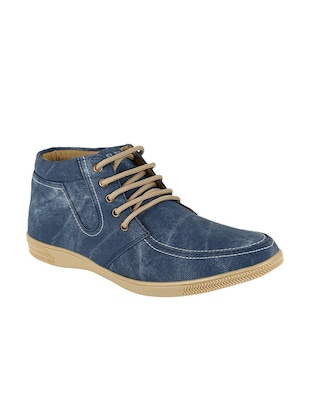 blue leatherette casual shoes