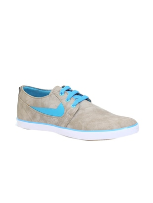 grey leatherette casual shoes
