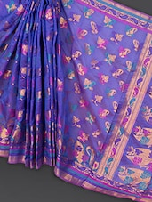 Purple Art Silk Saree - Prabha Creations