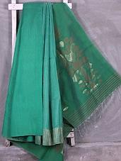 Sea Blue Zari Woven Matka Silk Saree - Ruplekha Fashion