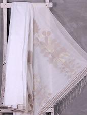 Classic White Zari Woven Matka Silk Saree - Ruplekha Fashion