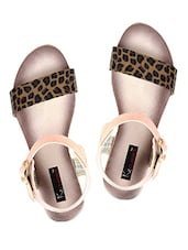 Animal Print Buckle Closure Sandals - KZ Classics