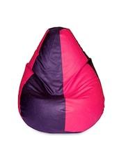 Color Block Leatherette Bean Bag Cover - Beans Bag House