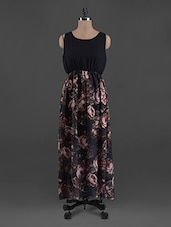 Rose Printed Georgette Maxi Dress - G&M Collections