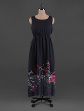 Floral Bottom Georgette Maxi Dress - G&M Collections