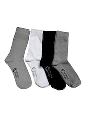 black, white , grey organic cotton bamboo sock -  online shopping for Socks