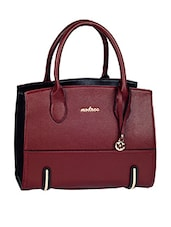 Leatherette Plain Solid Brown Handbag - Mod'acc