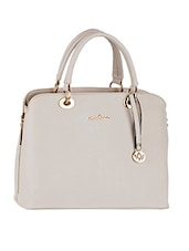 Leatherette Plain Solid Beige Handbag - Mod'acc
