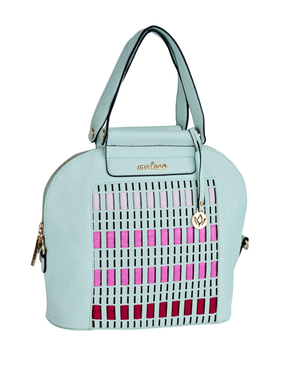 Multi Colour Blocks Leatherette Handbag - Mod'acc - 1106725