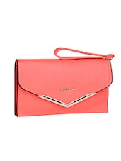 Envelop Inspired Pink Leatherette Clutch - Mod'acc
