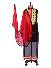 Geometric Neck Georgette Kurta And Dupatta Set - Infiara