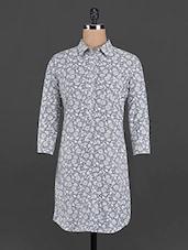 Floral Print Shirt Dress - Femella