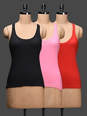 Plain Racer Back Cotton Tank Tops (pack Of 3) - LEADING LADY