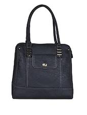 Dark Grey Leatherette Handbag - Coash