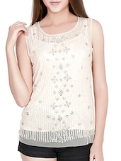 white nylon top -  online shopping for Tops