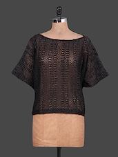 Boat Neck Black Lace Dress - URBAN RELIGION